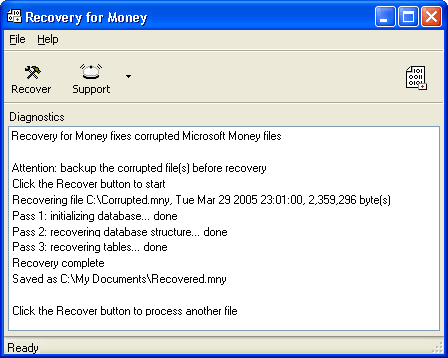 Recovery for Money Screenshot 1
