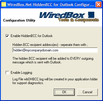HiddenBCC for Outlook Screenshot