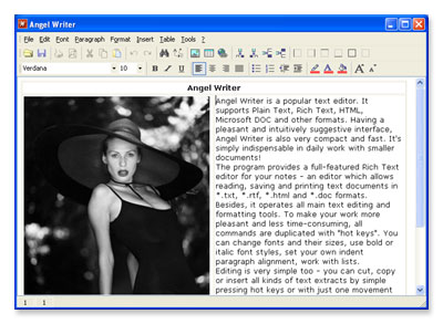 Angel Writer Screenshot