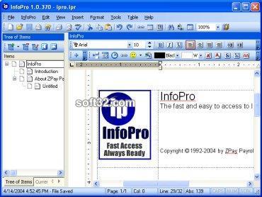 InfoPro Screenshot 2