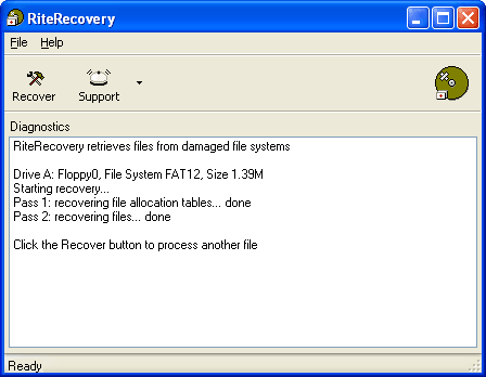 RiteRecovery Screenshot