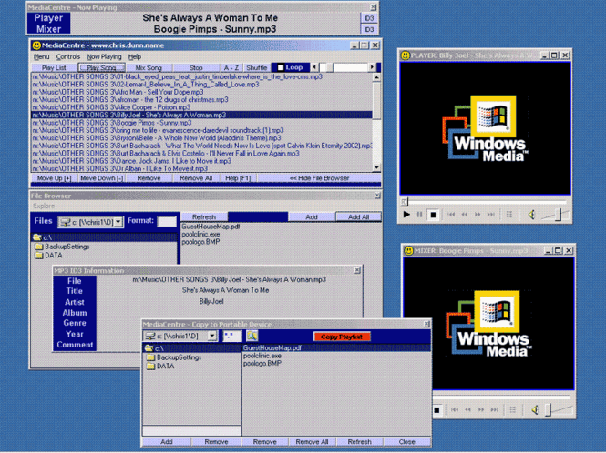 MediaCentre Screenshot