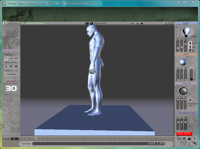 3D Virtual Figure Drawing Studio Male Screenshot 3