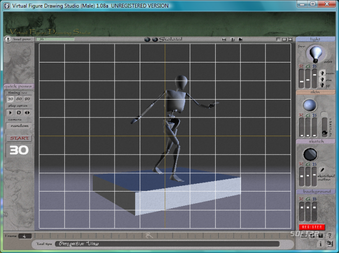 3D Virtual Figure Drawing Studio Male Screenshot 2