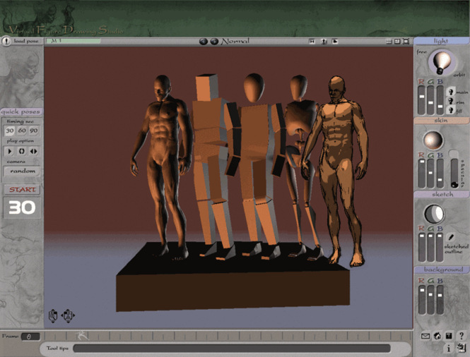 3D Virtual Figure Drawing Studio Male Screenshot 1