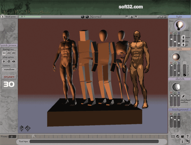 3D Virtual Figure Drawing Studio Male Screenshot 6