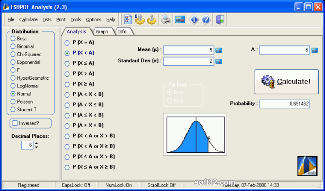 ESBPDF Analysis - Probability Software Screenshot 3