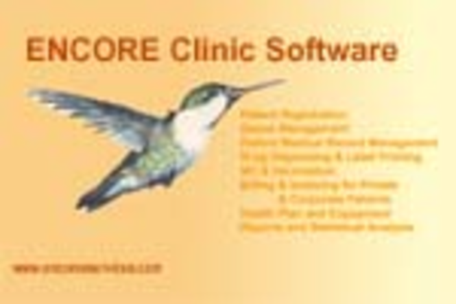 ENCORE Clinic Software System - Professional Edition Screenshot