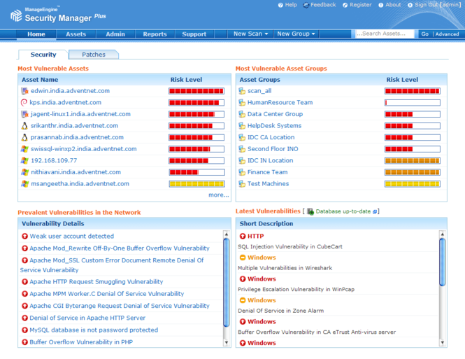 ManageEngine Security Manager Plus Screenshot