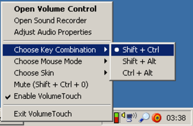 VolumeTouch Screenshot