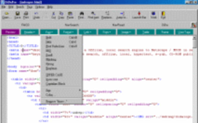 DiDaPro HTML Editor Screenshot