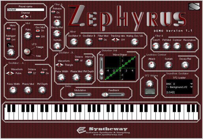 Zephyrus VSTi Screenshot