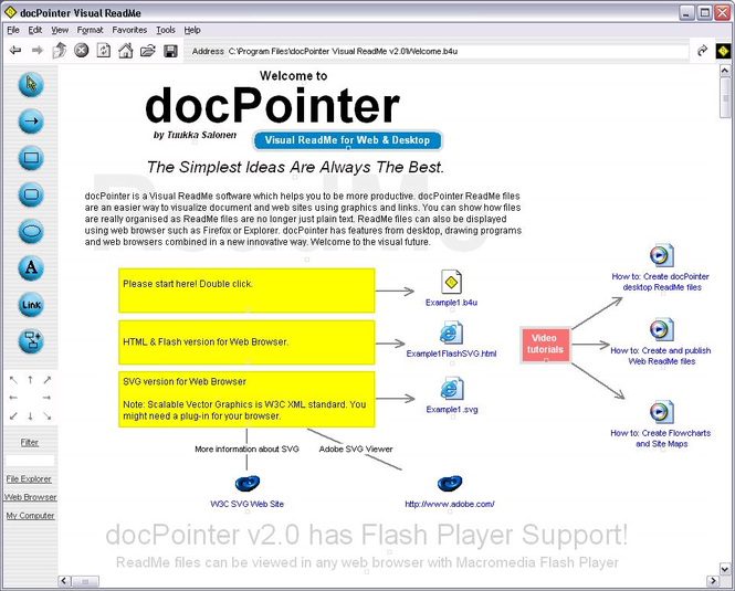 docPointer Visual ReadMe Screenshot
