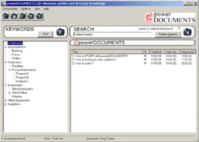 powerDOCUMENTS Screenshot