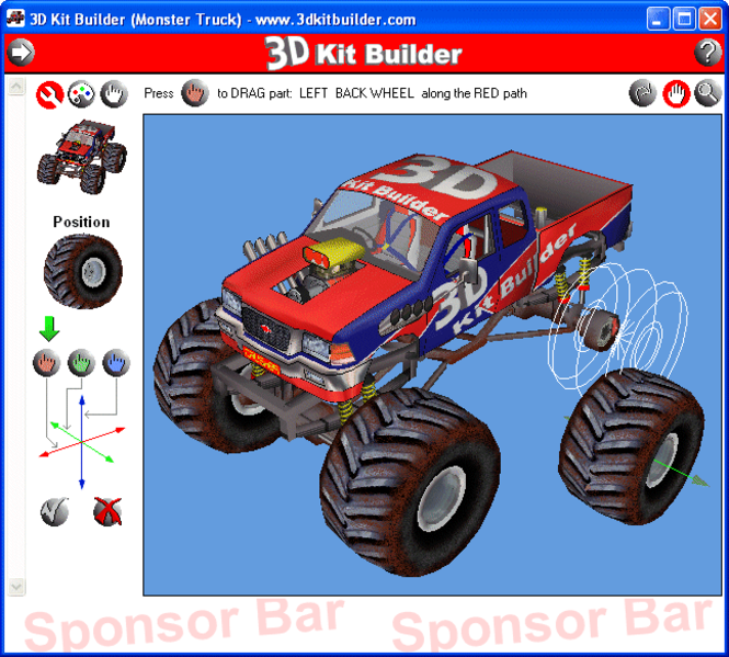 3D Kit Builder (Monster Truck) Screenshot