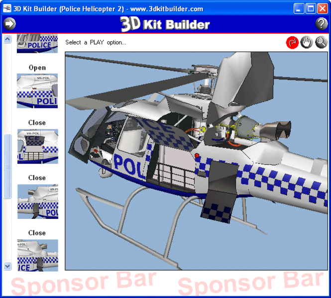 3D Kit Builder (Police Helicopter 2) Screenshot