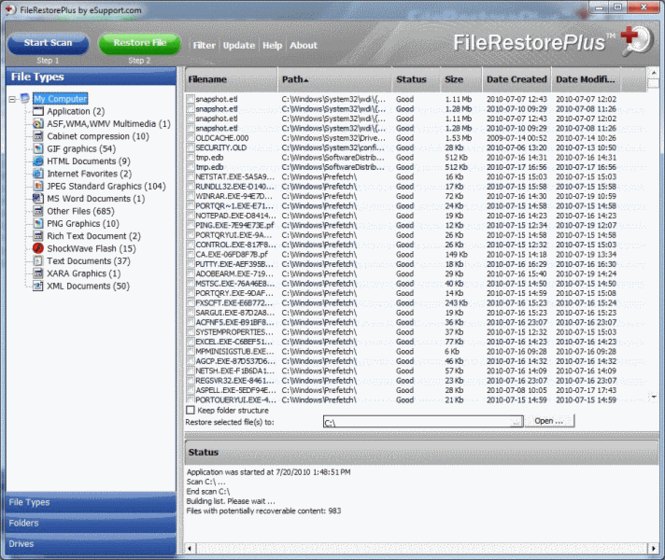 FileRestorePlus Screenshot 2