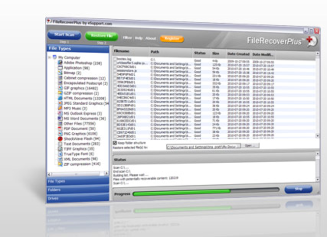 FileRestorePlus Screenshot 1