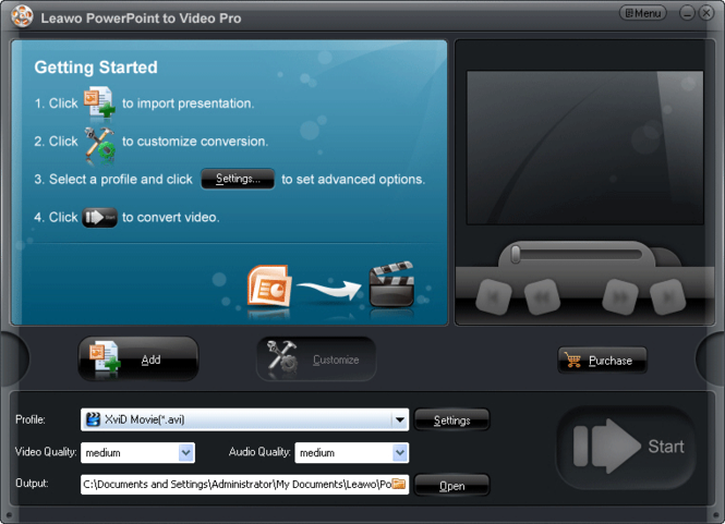 Leawo PowerPoint to Video Pro Screenshot 1