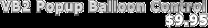 VB Squared Popup Balloon Control Screenshot