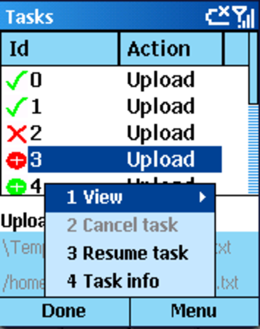 Orneta FTP for Smartphone 2003 Screenshot