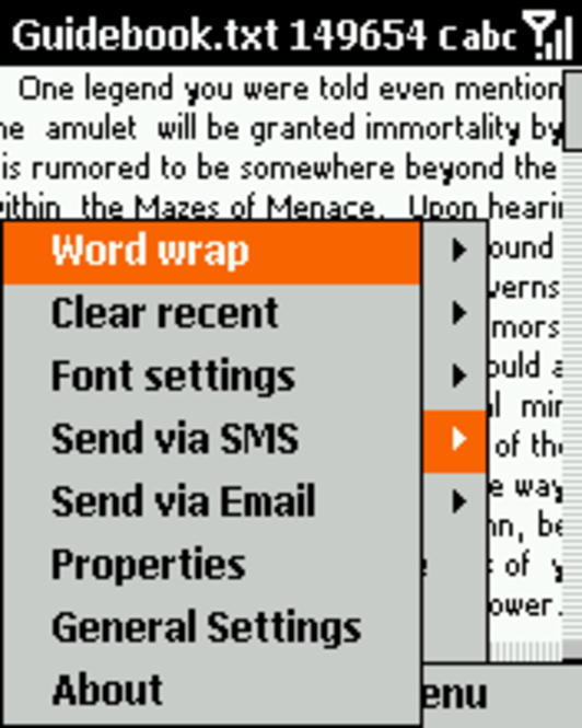 Orneta Notepad for Smartphone 2003 Screenshot