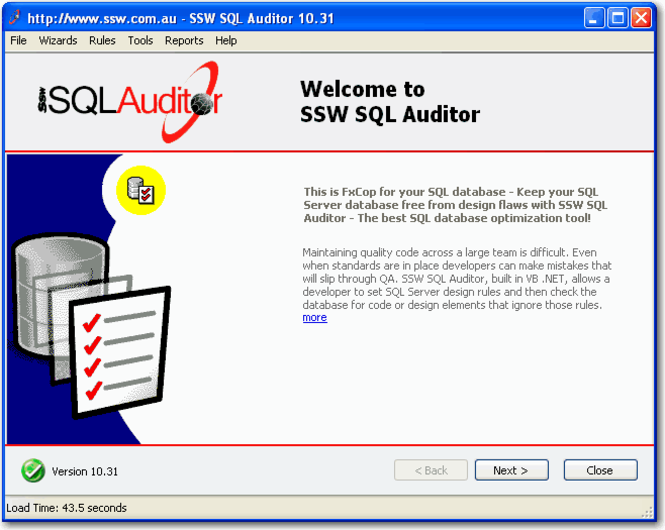 SSW SQL Auditor Screenshot