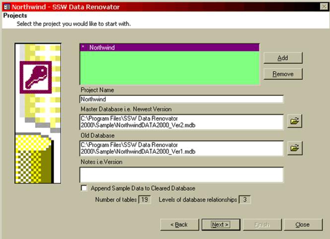 SSW Data Renovator 2000 Screenshot 1
