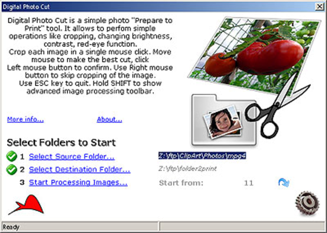 Digital Photo Cut Screenshot