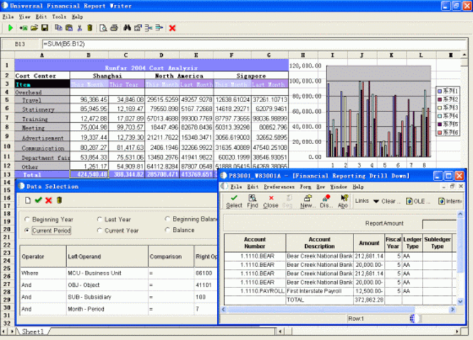 Peoplesoft (JDE) Financial Report Writer Screenshot