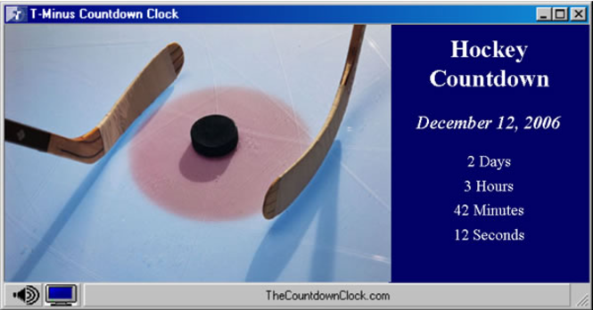 T-Minus Hockey Countdown Screenshot 1