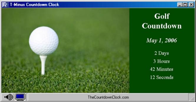 T-Minus Golf Countdown Screenshot 1