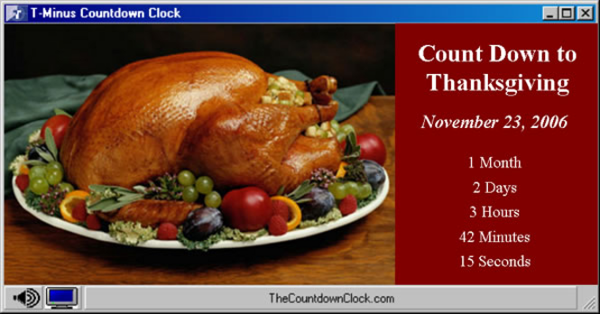 T-Minus Thanksgiving Countdown Screenshot 1