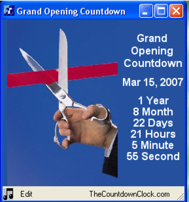 T-Minus Grand Opening Countdown Screenshot
