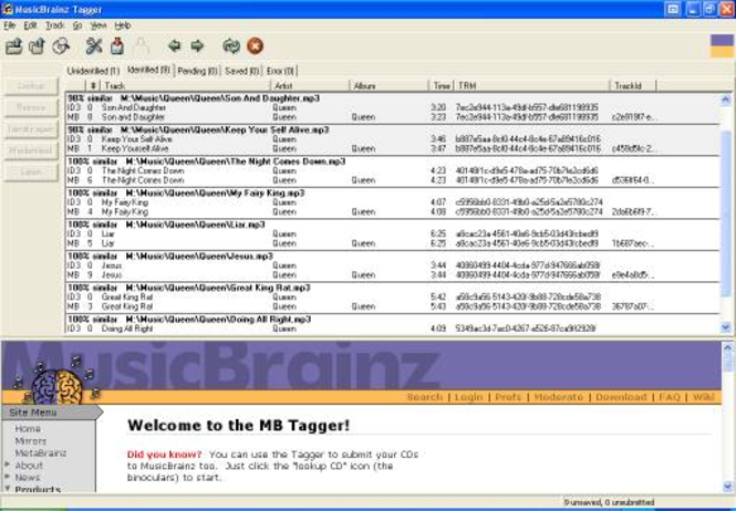 MusicBrainz Picard Screenshot