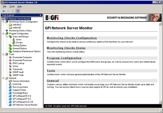 GFI Network Server Monitor Screenshot