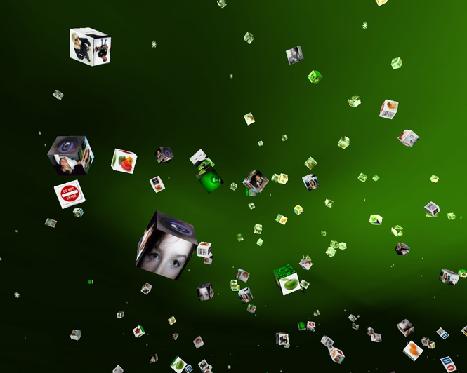 3D Cube Gallery Screensaver Screenshot 1