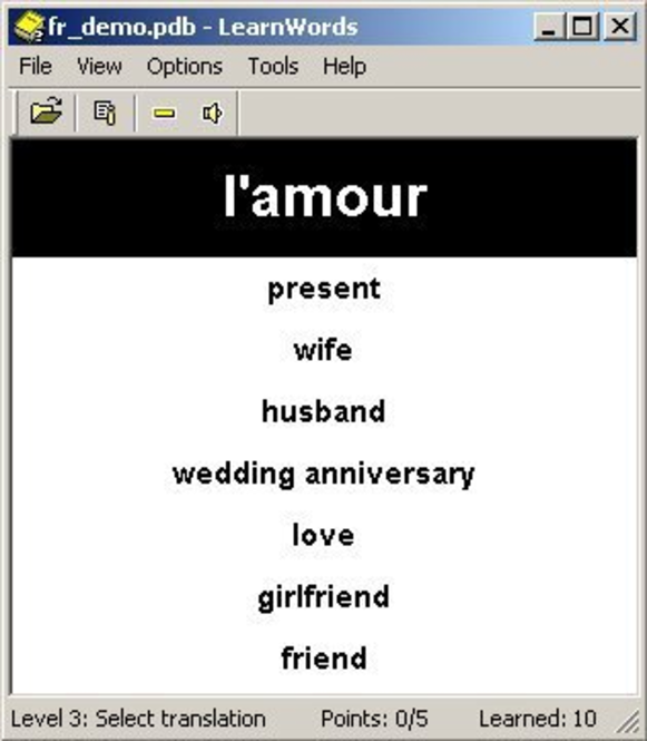 LearnWords Windows (unlimited version) Screenshot
