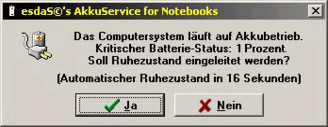 esdaS©'s AkkuService for Notebooks Screenshot
