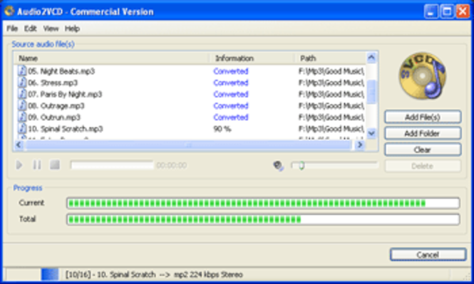 Audio2VCD (Commercial Version) Screenshot
