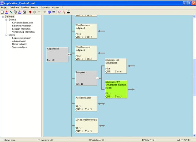 NH's Function Point Analyzer Screenshot