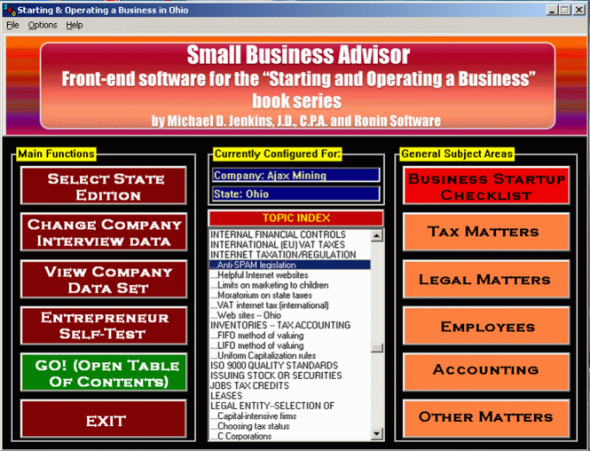 Small Business Advisor Screenshot