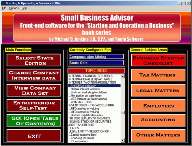 Small Business Advisor Screenshot 1