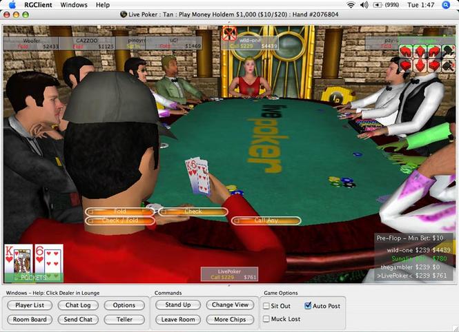 Live Poker Screenshot