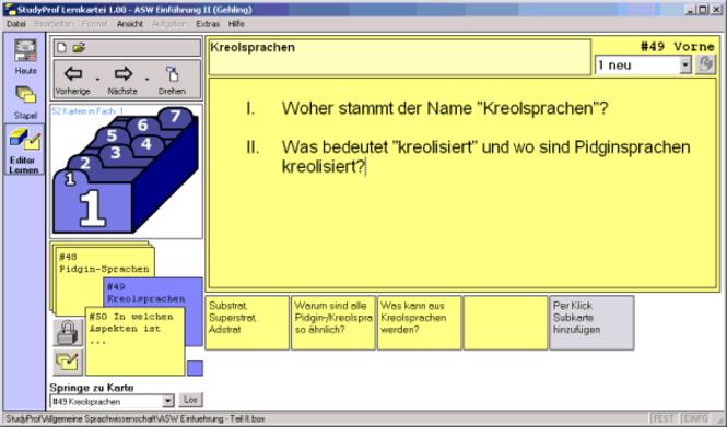 StudyProf Lernkartei Screenshot