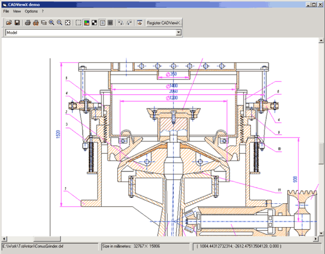 CADViewX: ActiveX for DWG, DXF, PLT Screenshot