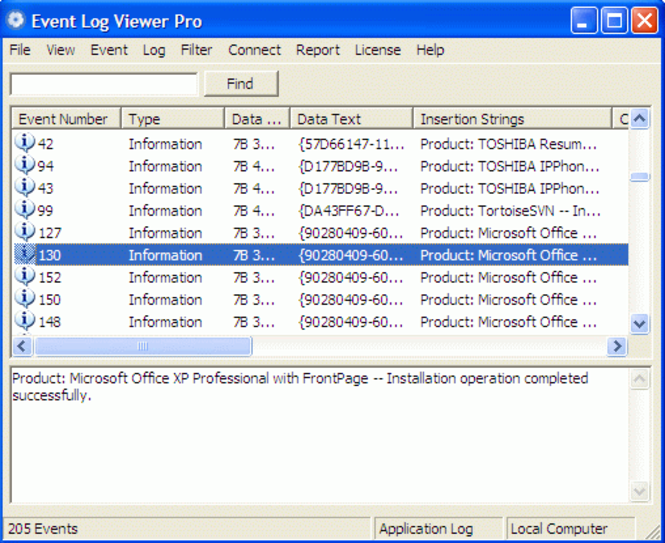 Event Log Viewer Pro Screenshot