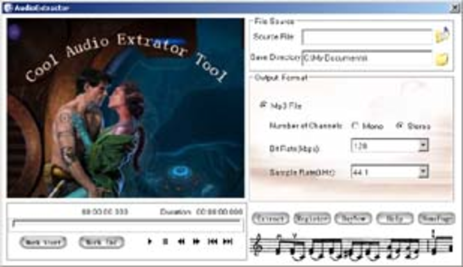 Cool Audio Extractor Tool Screenshot