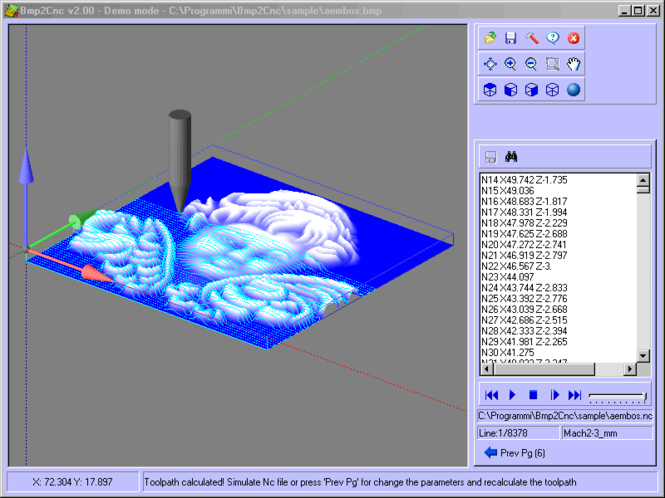 Bmp2Cnc Screenshot