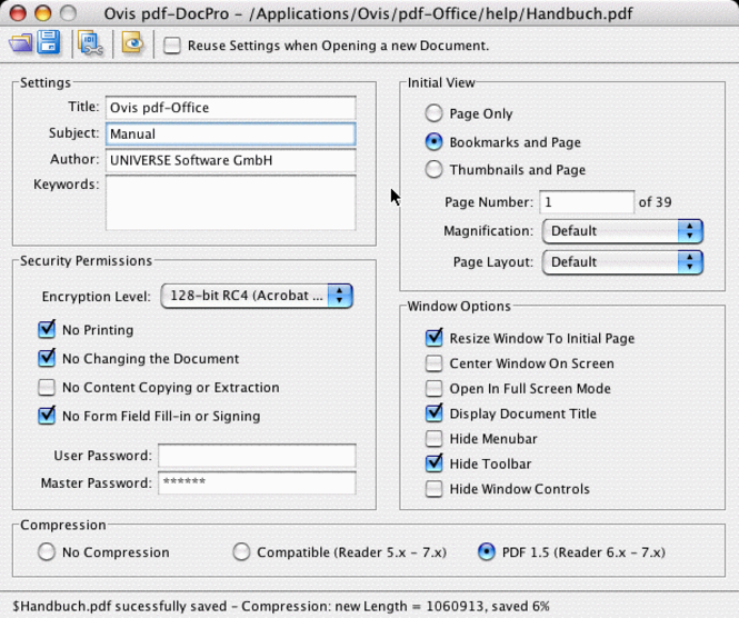 pdf-DocPro Server Edition Screenshot 1